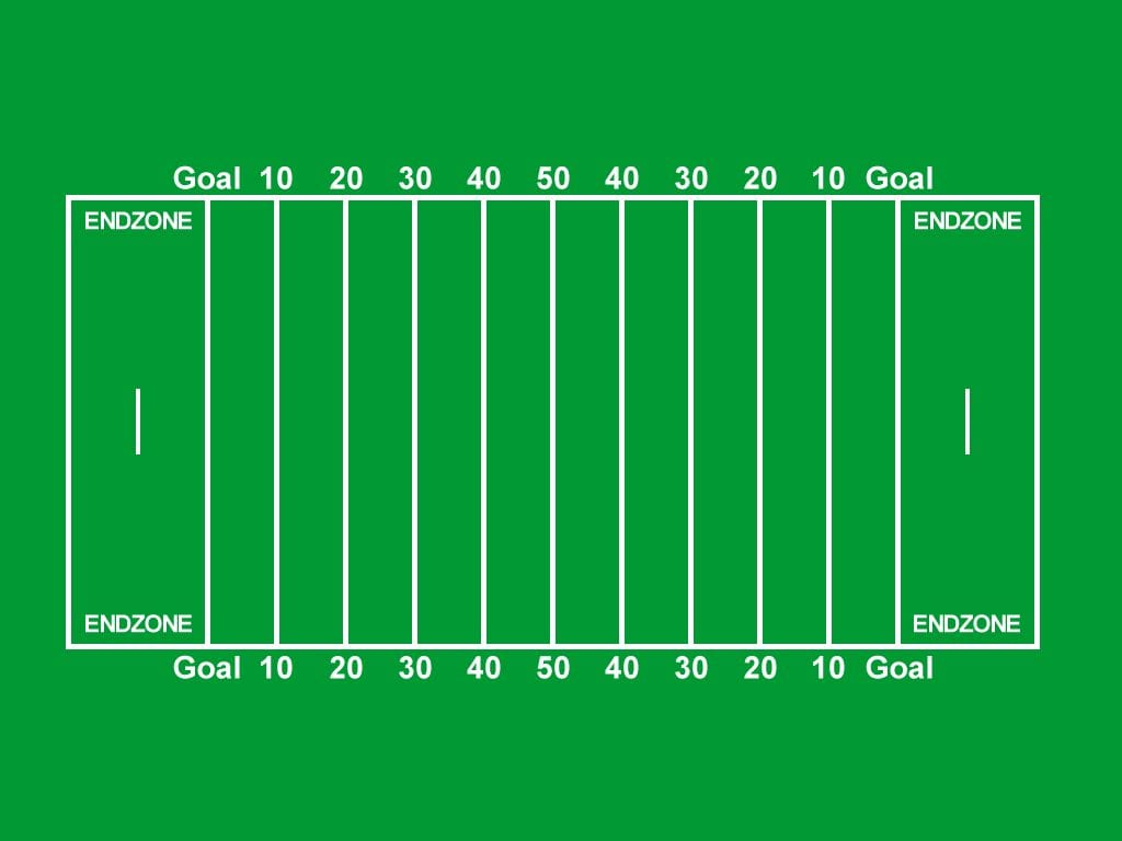 It's just a picture of Irresistible Football Field Printable
