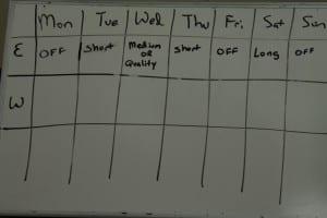 ndurance Training Schedule