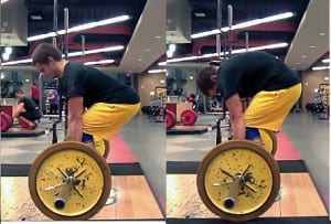 Lifter Rounding His Back on Deadlifts