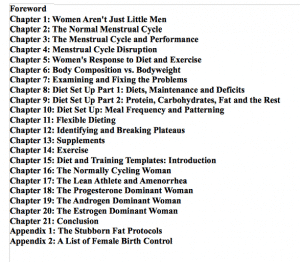 50 Shades of Hormones Table of Contents