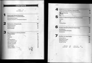 Brad Schoenfeld Hypertrophy Book Table of Contents